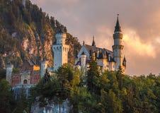 bavaria pod grodowym Germany neuschwanstein widok szerokim Zdjęcie Royalty Free