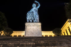Bavaria statue at Theresenwiese in Munich during night, Germany, Stock Photos