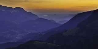 Bavaria. Sunrise, mountains of Southern Germany royalty free stock images