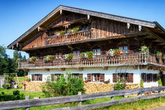 Bavaria. Typical old fashioned farmhouse in bavaria Stock Photo