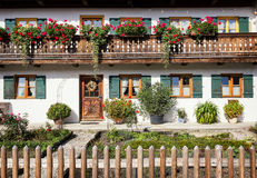 Bavaria. Typical old fashioned farmhouse in bavaria Stock Images