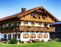 Bavaria. Typical old fashioned farmhouse in bavaria Stock Photography