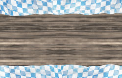 Bavaria Wood Oktoberfest Flag Design Background Royalty Free Stock Photo