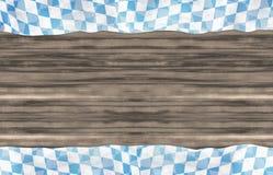 Bavaria Wood Oktoberfest Flag Design Background. Creative Illustration Graphic Royalty Free Stock Photo