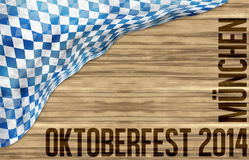 Bavaria Wood Oktoberfest Flag Design Background Royalty Free Stock Images