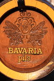 Bavaria wooden beer barrel Stock Image