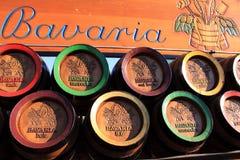 Bavaria wooden beer barrels Stock Images