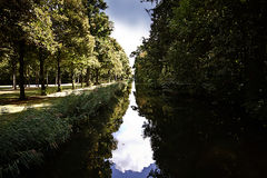 Bavaria, woodland and calm waters Stock Photo