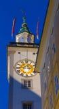 bavaria zegarowego Germany sala dziedzictwa stary jeden Regensburg miejsca stadtamhof wierza miasteczka świat Obraz Royalty Free