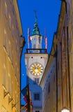 bavaria zegarowego Germany sala dziedzictwa stary jeden Regensburg miejsca stadtamhof wierza miasteczka świat Zdjęcia Stock