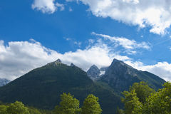Bavarian Alps. Peaks in Bavarian Alps, Germany, Europe Stock Images