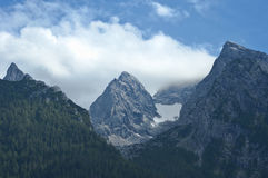 Bavarian Alps. Peaks in Bavarian Alps, Germany, Europe Stock Photography