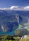 Bavarian Alps. Konigssee lake in Bavarian Alps, Germany Royalty Free Stock Photos