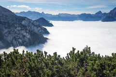 Bavarian Alps in the Eagle nest, Germany Royalty Free Stock Photo