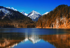 Bavarian alps in Germany Royalty Free Stock Photos