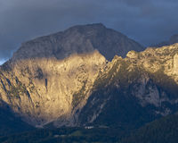 Bavarian Alps. Hiking through the Bavarian Alps of Southern Germany royalty free stock image