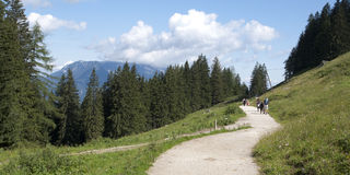 Bavarian Alps. Hiking through the Bavarian Alps of Southern Germany royalty free stock photo