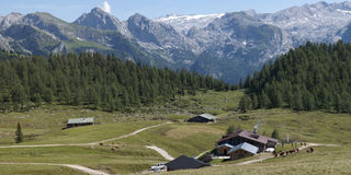 Bavarian Alps. Hiking through the Bavarian Alps of Southern Germany Stock Photography
