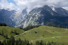 Bavarian Alps. Hiking through the Bavarian Alps of Southern GermanySONY DSC stock photography