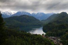 Bavarian Alps from Neuschwanstein Castle Stock Photography