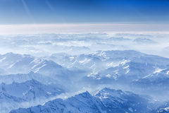 The bavarian alps seen from above Royalty Free Stock Photography