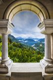 Bavarian Alps View. View from Neuschwanstein Castle in the Bavarian Alps of Germany Stock Photo
