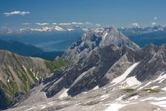 Bavarian Alps. View from Zugspitze Stock Photo