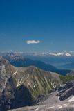 Bavarian Alps. View from Zugspitze Stock Photos