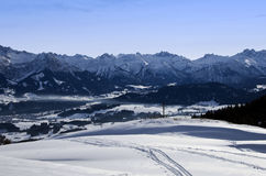 Bavarian alps in winter Royalty Free Stock Photo