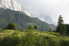Bavarian alps with Zugspitze stock photo