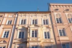 Bavarian Art Nouveau facades Royalty Free Stock Images