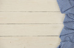 Bavarian background with blue checkered fabric Royalty Free Stock Image