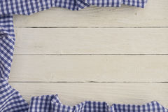 Bavarian background with a checkered tablecloth Royalty Free Stock Photo