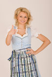 Bavarian beauty in costume Royalty Free Stock Photography