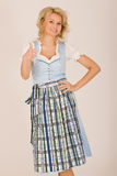 Bavarian beauty in costume Stock Photo