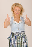 Bavarian beauty in costume Royalty Free Stock Images