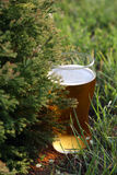 Bavarian beer. Glass of beer in the garden royalty free stock photography