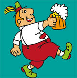 Bavarian. With beer. Cartoon. Vector vector illustration