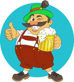 Bavarian. With beer. Cartoon. Vector stock illustration