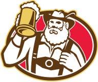 Bavarian Beer Drinker Mug Retro Royalty Free Stock Photos