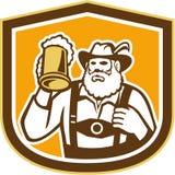Bavarian Beer Drinker Mug Shield Retro Stock Image