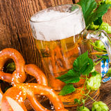 Bavarian beer. A fresh and tasty Bavarian beer Royalty Free Stock Photo