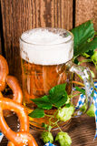Bavarian beer. A fresh and tasty Bavarian beer Stock Photography