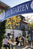 Bavarian beer garden Stock Image