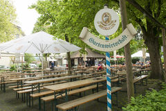 Bavarian beer garden Royalty Free Stock Images