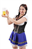 Bavarian beer girl Stock Image