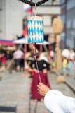 Bavarian Bell historic festival. Bavarian Bell on historic festival template background Stock Image