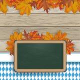 Bavarian Blackboard Foliage Wood Stock Photography