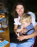 Bavarian boy with mother Royalty Free Stock Images
