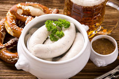 Bavarian Breakfast with White Sausage Royalty Free Stock Photo